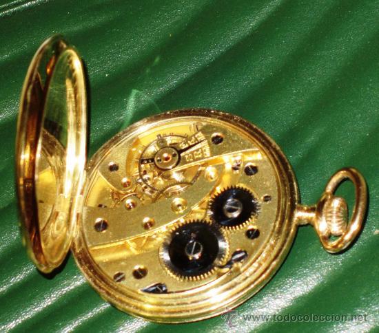 Relojes de bolsillo: SENSACIONAL RELOJ BOLSILLO CRONOMETRO ORO - Foto 6 - 36809627