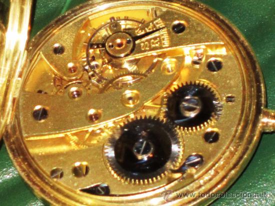 Relojes de bolsillo: SENSACIONAL RELOJ BOLSILLO CRONOMETRO ORO - Foto 7 - 36809627