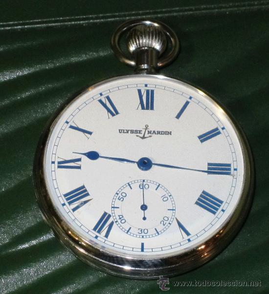 Relojes de bolsillo: PIEZON DE COLECCIONISTA RELOJ BOLSILLO ULYSSE NARDIN - Foto 3 - 36809778