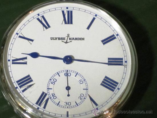 Relojes de bolsillo: PIEZON DE COLECCIONISTA RELOJ BOLSILLO ULYSSE NARDIN - Foto 4 - 36809778