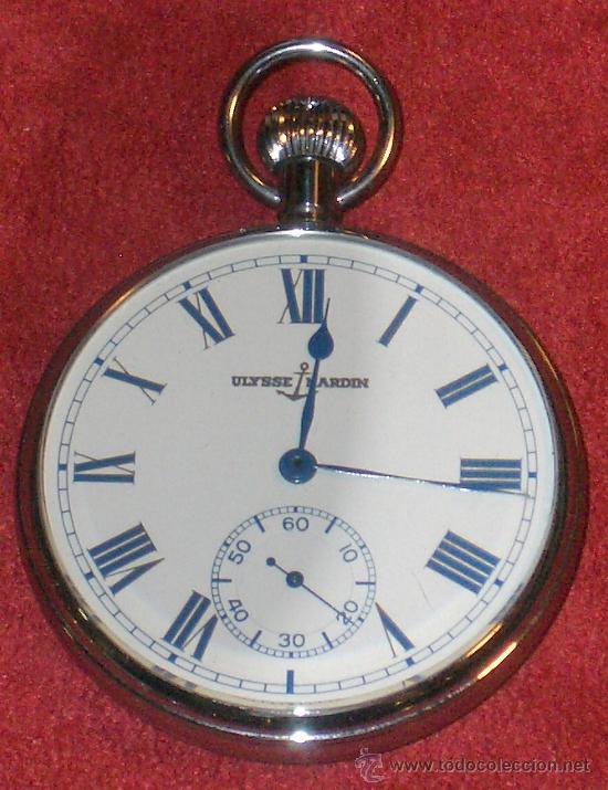 Relojes de bolsillo: PIEZON DE COLECCIONISTA RELOJ BOLSILLO ULYSSE NARDIN - Foto 6 - 36809778