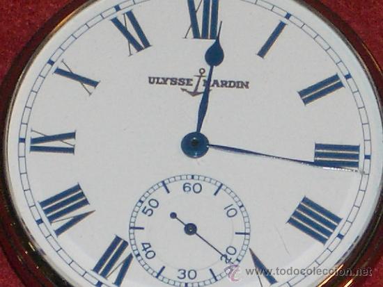 Relojes de bolsillo: PIEZON DE COLECCIONISTA RELOJ BOLSILLO ULYSSE NARDIN - Foto 7 - 36809778