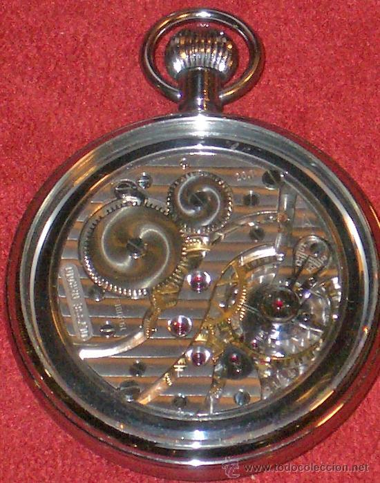 Relojes de bolsillo: PIEZON DE COLECCIONISTA RELOJ BOLSILLO ULYSSE NARDIN - Foto 8 - 36809778