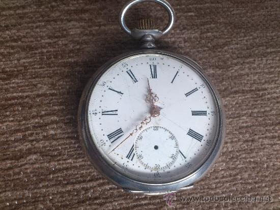 RELOJ BESACON, EN PLATA, . (Relojes - Bolsillo Carga Manual)