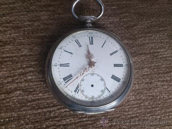 Relojes de bolsillo: RELOJ BESACON, EN PLATA, . - Foto 2 - 36845838