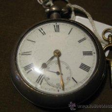Relojes de bolsillo: RELOJ DE BOLSILLO EN PLATA SEMI CATALINA- SIN MARCA - CON CHICHONERA Y FUNCIONANDO. Lote 37144595