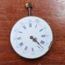 Relojes de bolsillo: RELOJ DE BOLSILLO CARGA MANUAL ESFERA PORCELANA FUNCIONANDO SOLO MAQUINARIA. Lote 37404568