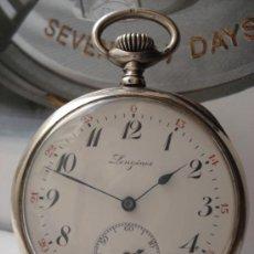Relojes de bolsillo: LONGINES DE PLATA ,1910.. Lote 37488848