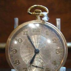 Relojes de bolsillo: RELOJ DE BOLSILLO RON CANEY CHAPADO ORO TIPO ROSKOPF. Lote 37675654