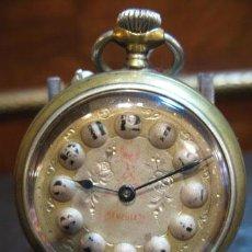 Relojes de bolsillo: RELOJ DE BOLSILLO HERCULES TIPO ROSKOPF FUNCIONANDO. Lote 37676117