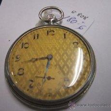 Relojes de bolsillo: RELOJ DE BOLSILLO DOMINA. CURIOSA ESFERA COLOR TOSTADO Y ROMBOS. TAPA TRASERA DEC. EN PLATA NIELADA. Lote 38027320