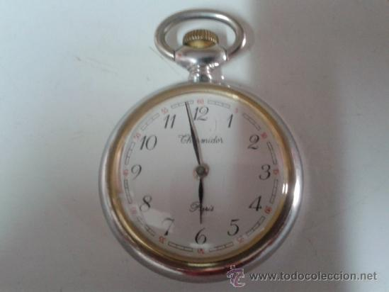 RELOJ DE BOLSILLO THERMIDOR PARIS FUNCIONANDO (Relojes - Bolsillo Carga Manual)