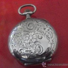 Relojes de bolsillo: ANTIGUO RELOJ EN PLATA DE BOLSILLO MEDALLA DE PARÍS 1900, PROFUSAMENTE DECORADO. Lote 39318519