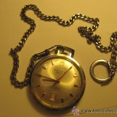 Relojes de bolsillo: ANTIGUO RARO Y PRECIOSO RELOJ CAUNY DE BOLSILLO, CON SU LEONTINA ORIGINAL. Lote 39465343