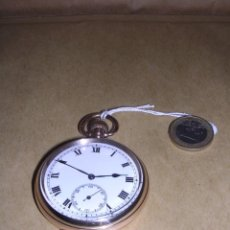 Relojes de bolsillo: ANTIGUO RELOJ DE CUERDA CHAPADO ,FUNCIONANDO STAR DENNISON WATCH CASE Cº LTD . Lote 39664406