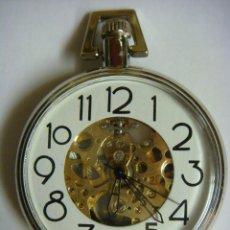 Relojes de bolsillo: RELOJ DE BOLSILLO DE CUERDA FUNCIONANDO,ES NUEVO. Lote 40018587