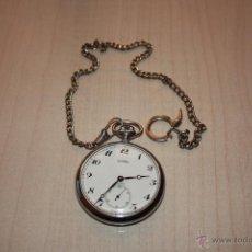 Relojes de bolsillo: RELOJ DOGMA PRIMA SWISS MADE MIDE CRISTAL 4 CTM TOTAL 5 CTM **FUNCIONA **. Lote 40047864