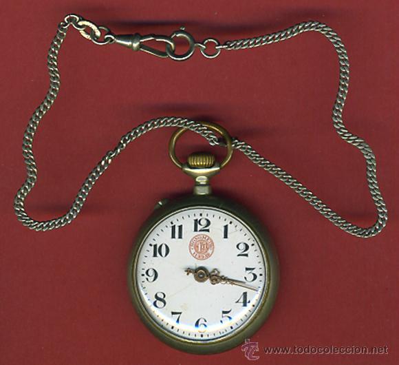 RELOJ DE BOLSILLO CRONOMETRO , MARCA 1ª PRIMERA VERDAD , FUNCIONANDO , ORIGINAL (Relojes - Bolsillo Carga Manual)