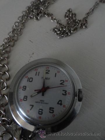 RELOJ DE BOLSILLO A CUERDA TIMEX FUNCIONANDO BUEN ESTADO (Relojes - Bolsillo Carga Manual)
