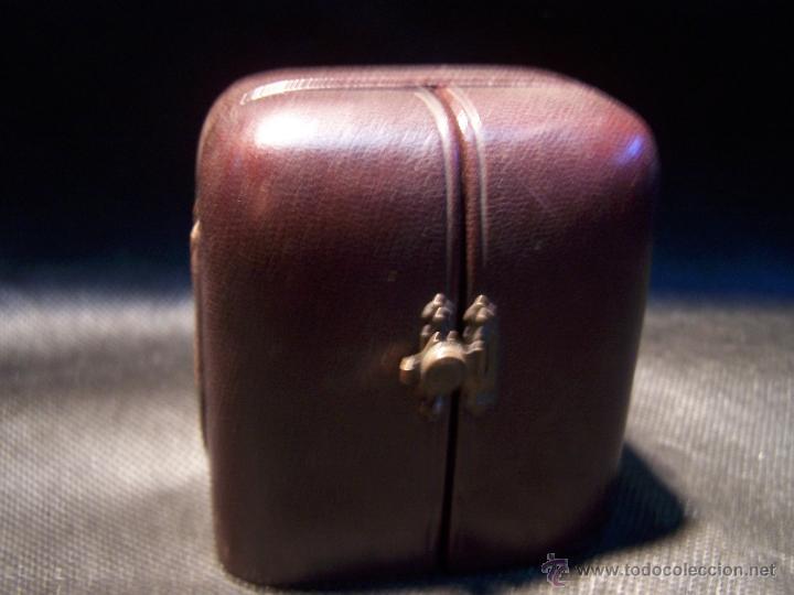 Relojes de bolsillo: ANTIGUO RELOJ DE ORO LONGINES, AÑO 1905, CON SU LEONTINA DE ORO Y CAJA RELOJERA DE VIAJE - Foto 4 - 41410262