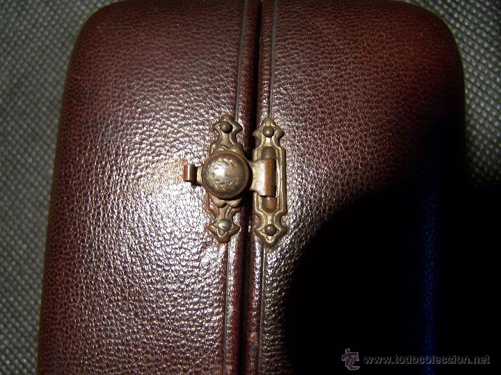 Relojes de bolsillo: ANTIGUO RELOJ DE ORO LONGINES, AÑO 1905, CON SU LEONTINA DE ORO Y CAJA RELOJERA DE VIAJE - Foto 5 - 41410262