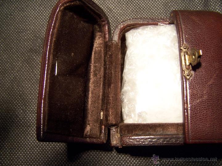 Relojes de bolsillo: ANTIGUO RELOJ DE ORO LONGINES, AÑO 1905, CON SU LEONTINA DE ORO Y CAJA RELOJERA DE VIAJE - Foto 15 - 41410262