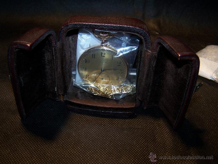 Relojes de bolsillo: ANTIGUO RELOJ DE ORO LONGINES, AÑO 1905, CON SU LEONTINA DE ORO Y CAJA RELOJERA DE VIAJE - Foto 20 - 41410262