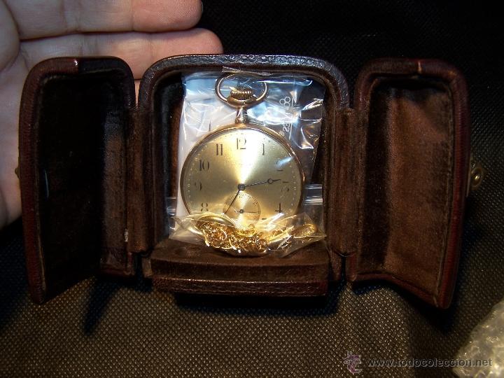 Relojes de bolsillo: ANTIGUO RELOJ DE ORO LONGINES, AÑO 1905, CON SU LEONTINA DE ORO Y CAJA RELOJERA DE VIAJE - Foto 22 - 41410262