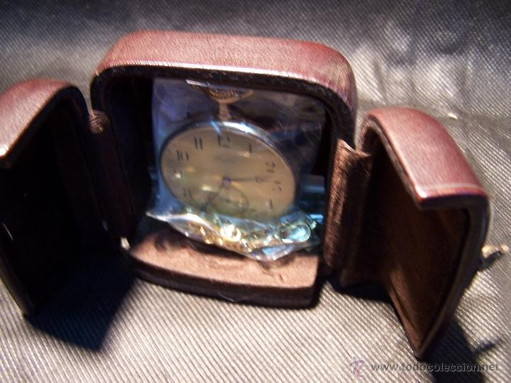 Relojes de bolsillo: ANTIGUO RELOJ DE ORO LONGINES, AÑO 1905, CON SU LEONTINA DE ORO Y CAJA RELOJERA DE VIAJE - Foto 26 - 41410262