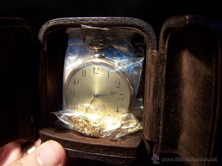 Relojes de bolsillo: ANTIGUO RELOJ DE ORO LONGINES, AÑO 1905, CON SU LEONTINA DE ORO Y CAJA RELOJERA DE VIAJE - Foto 27 - 41410262