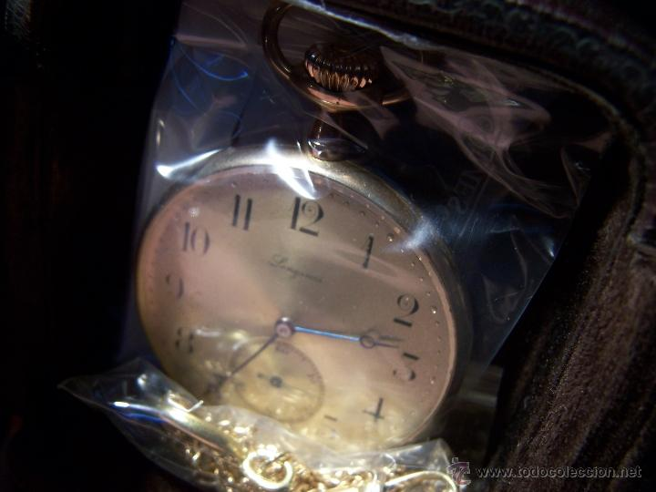 Relojes de bolsillo: ANTIGUO RELOJ DE ORO LONGINES, AÑO 1905, CON SU LEONTINA DE ORO Y CAJA RELOJERA DE VIAJE - Foto 29 - 41410262
