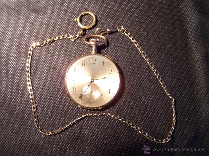 Relojes de bolsillo: ANTIGUO RELOJ DE ORO LONGINES, AÑO 1905, CON SU LEONTINA DE ORO Y CAJA RELOJERA DE VIAJE - Foto 30 - 41410262