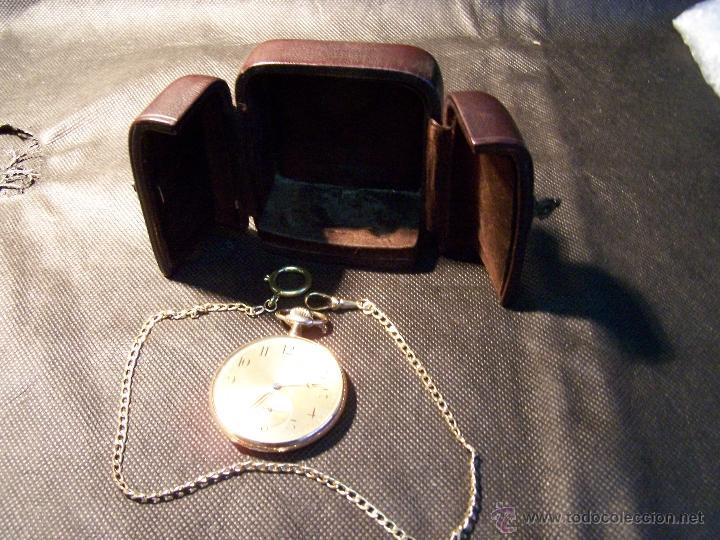 Relojes de bolsillo: ANTIGUO RELOJ DE ORO LONGINES, AÑO 1905, CON SU LEONTINA DE ORO Y CAJA RELOJERA DE VIAJE - Foto 31 - 41410262