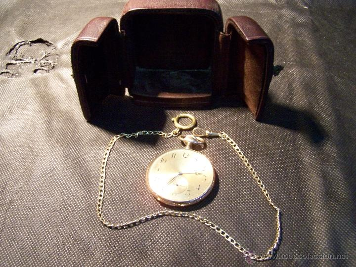Relojes de bolsillo: ANTIGUO RELOJ DE ORO LONGINES, AÑO 1905, CON SU LEONTINA DE ORO Y CAJA RELOJERA DE VIAJE - Foto 32 - 41410262
