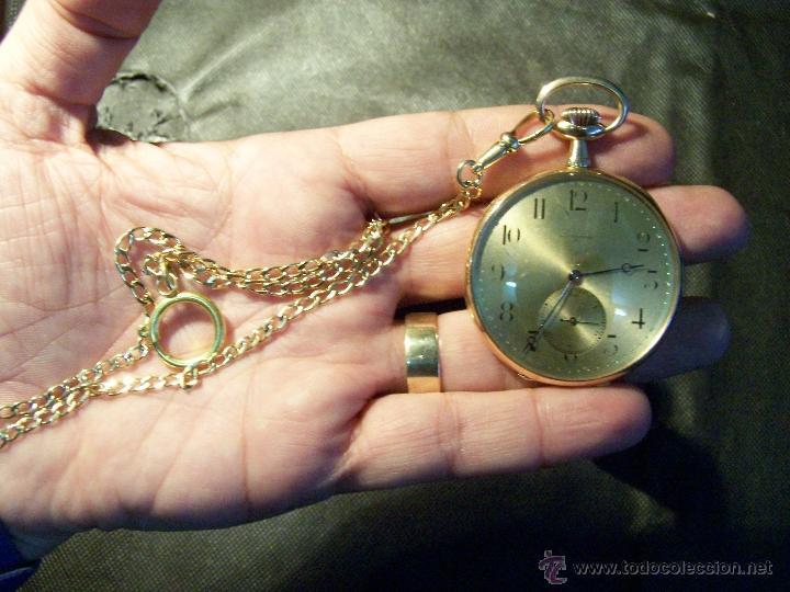 Relojes de bolsillo: ANTIGUO RELOJ DE ORO LONGINES, AÑO 1905, CON SU LEONTINA DE ORO Y CAJA RELOJERA DE VIAJE - Foto 34 - 41410262