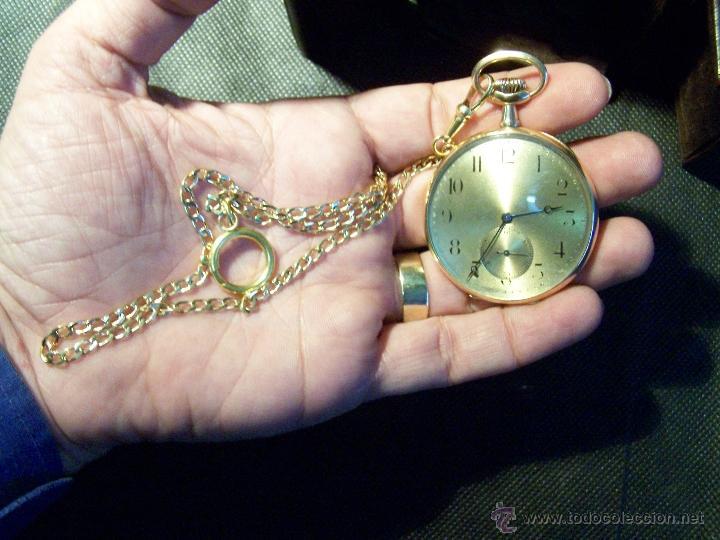 Relojes de bolsillo: ANTIGUO RELOJ DE ORO LONGINES, AÑO 1905, CON SU LEONTINA DE ORO Y CAJA RELOJERA DE VIAJE - Foto 35 - 41410262