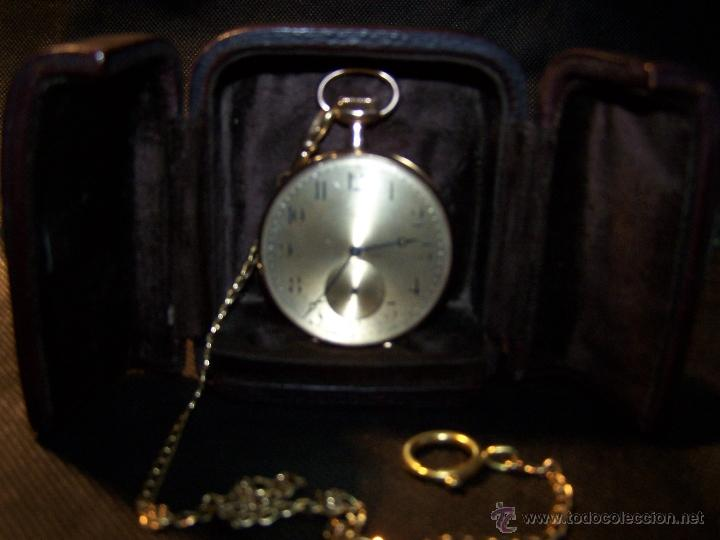 Relojes de bolsillo: ANTIGUO RELOJ DE ORO LONGINES, AÑO 1905, CON SU LEONTINA DE ORO Y CAJA RELOJERA DE VIAJE - Foto 38 - 41410262