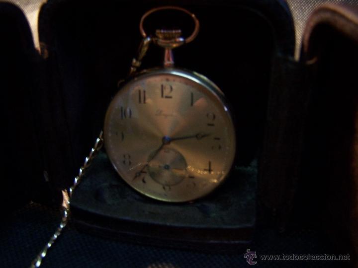 Relojes de bolsillo: ANTIGUO RELOJ DE ORO LONGINES, AÑO 1905, CON SU LEONTINA DE ORO Y CAJA RELOJERA DE VIAJE - Foto 39 - 41410262