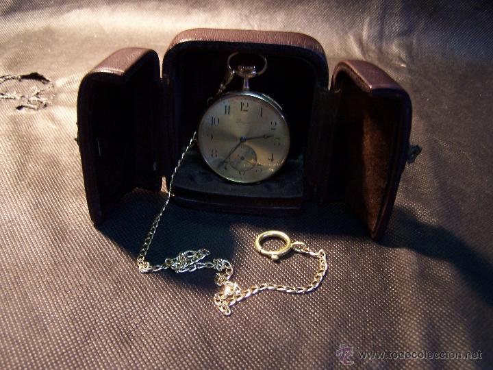 Relojes de bolsillo: ANTIGUO RELOJ DE ORO LONGINES, AÑO 1905, CON SU LEONTINA DE ORO Y CAJA RELOJERA DE VIAJE - Foto 40 - 41410262