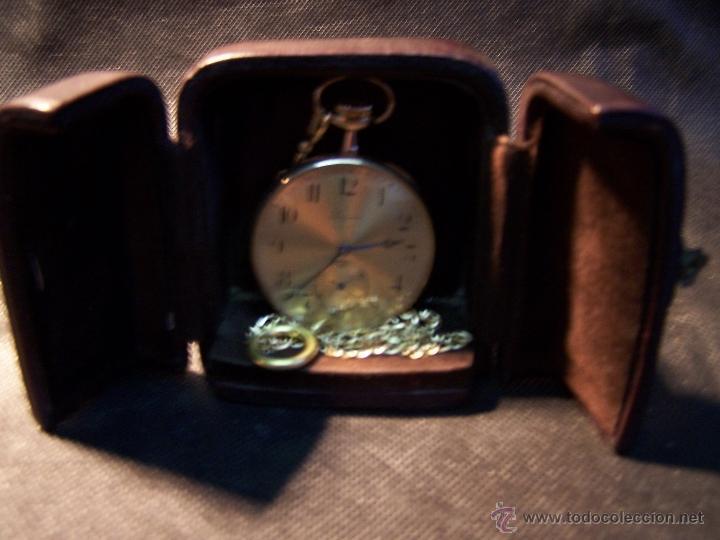 Relojes de bolsillo: ANTIGUO RELOJ DE ORO LONGINES, AÑO 1905, CON SU LEONTINA DE ORO Y CAJA RELOJERA DE VIAJE - Foto 44 - 41410262