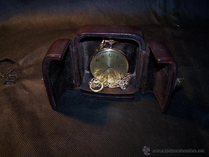 Relojes de bolsillo: ANTIGUO RELOJ DE ORO LONGINES, AÑO 1905, CON SU LEONTINA DE ORO Y CAJA RELOJERA DE VIAJE - Foto 47 - 41410262