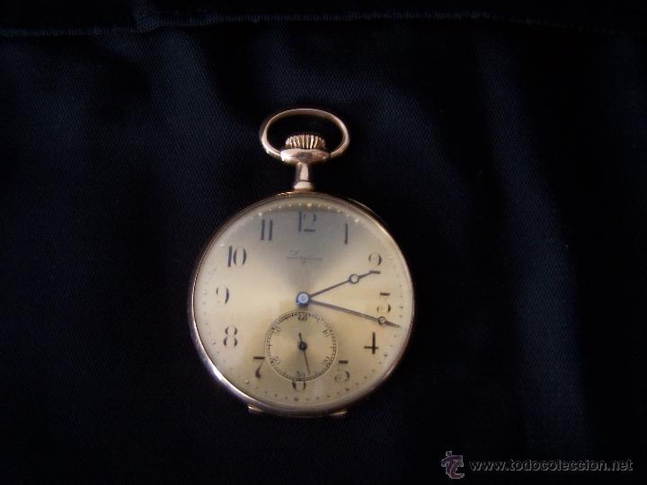 Relojes de bolsillo: ANTIGUO RELOJ DE ORO LONGINES, AÑO 1905, CON SU LEONTINA DE ORO Y CAJA RELOJERA DE VIAJE - Foto 52 - 41410262