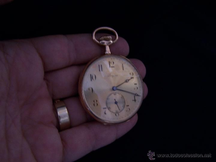 Relojes de bolsillo: ANTIGUO RELOJ DE ORO LONGINES, AÑO 1905, CON SU LEONTINA DE ORO Y CAJA RELOJERA DE VIAJE - Foto 55 - 41410262
