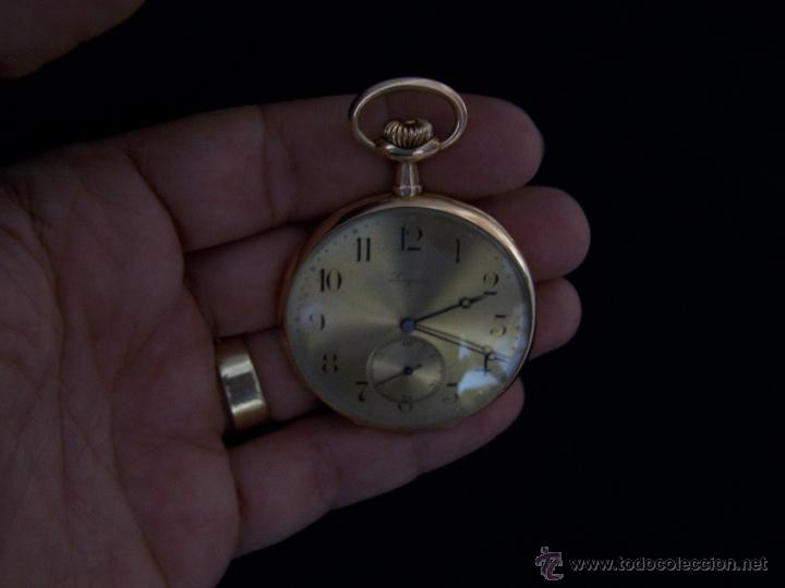 Relojes de bolsillo: ANTIGUO RELOJ DE ORO LONGINES, AÑO 1905, CON SU LEONTINA DE ORO Y CAJA RELOJERA DE VIAJE - Foto 56 - 41410262