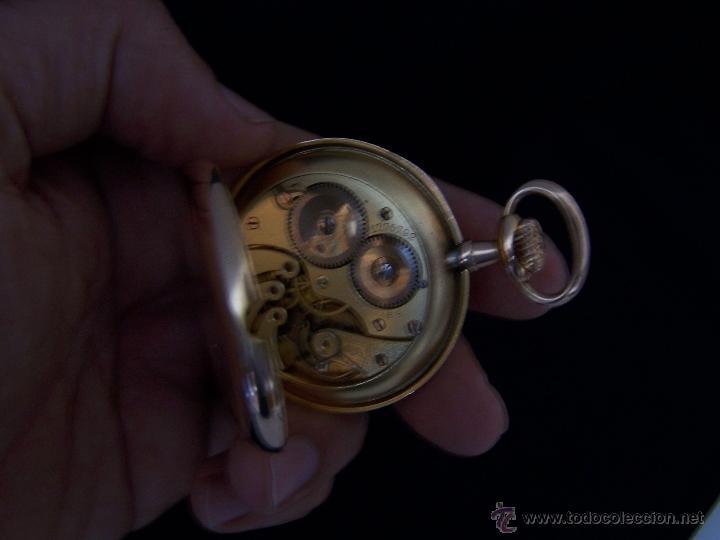 Relojes de bolsillo: ANTIGUO RELOJ DE ORO LONGINES, AÑO 1905, CON SU LEONTINA DE ORO Y CAJA RELOJERA DE VIAJE - Foto 62 - 41410262
