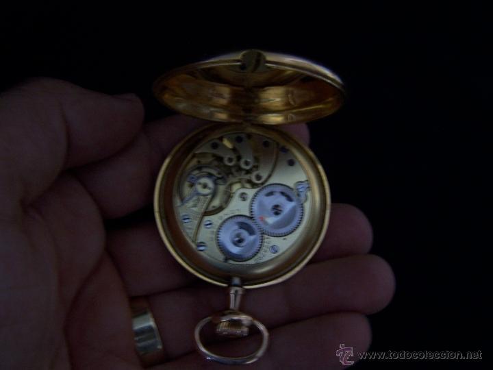 Relojes de bolsillo: ANTIGUO RELOJ DE ORO LONGINES, AÑO 1905, CON SU LEONTINA DE ORO Y CAJA RELOJERA DE VIAJE - Foto 63 - 41410262