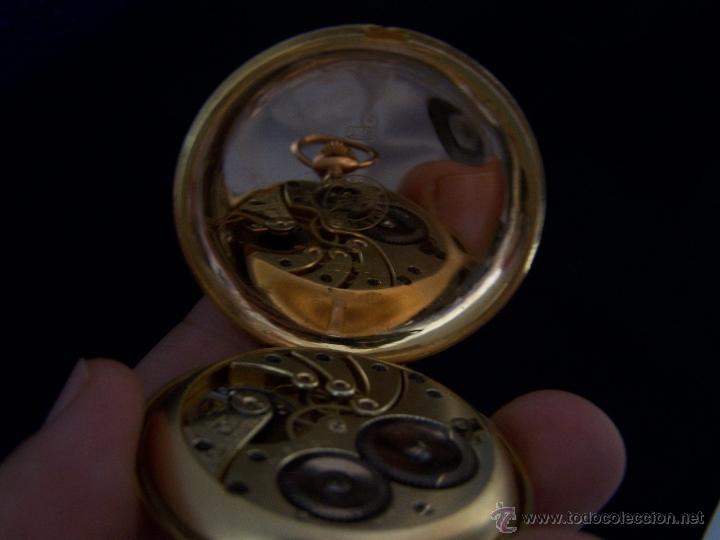 Relojes de bolsillo: ANTIGUO RELOJ DE ORO LONGINES, AÑO 1905, CON SU LEONTINA DE ORO Y CAJA RELOJERA DE VIAJE - Foto 64 - 41410262