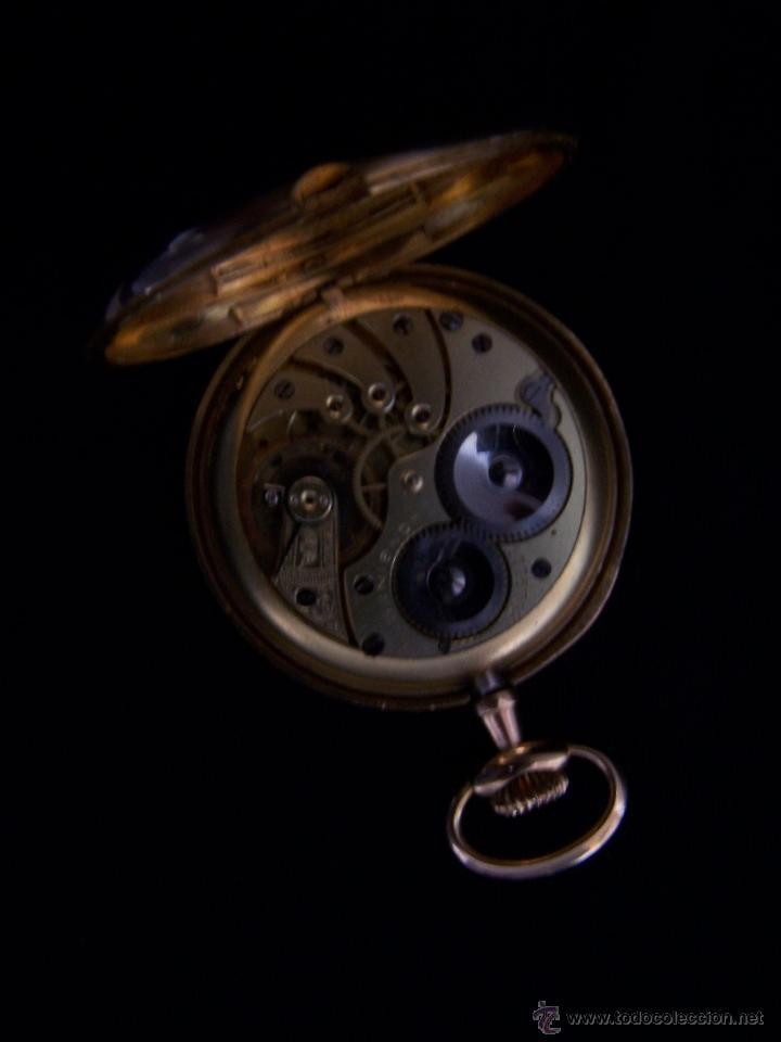 Relojes de bolsillo: ANTIGUO RELOJ DE ORO LONGINES, AÑO 1905, CON SU LEONTINA DE ORO Y CAJA RELOJERA DE VIAJE - Foto 66 - 41410262