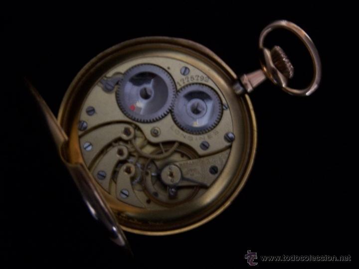 Relojes de bolsillo: ANTIGUO RELOJ DE ORO LONGINES, AÑO 1905, CON SU LEONTINA DE ORO Y CAJA RELOJERA DE VIAJE - Foto 67 - 41410262