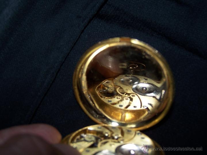 Relojes de bolsillo: ANTIGUO RELOJ DE ORO LONGINES, AÑO 1905, CON SU LEONTINA DE ORO Y CAJA RELOJERA DE VIAJE - Foto 68 - 41410262